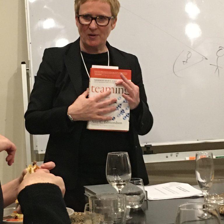 Chris Mathieson sharing Teaming by Amy C. Edmondson